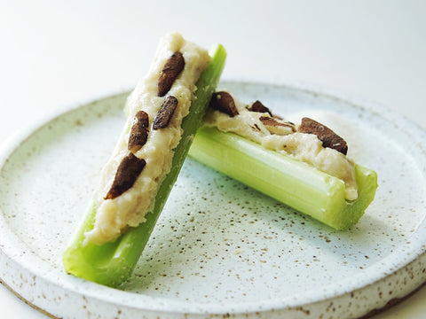 Celery with expedition pili butter