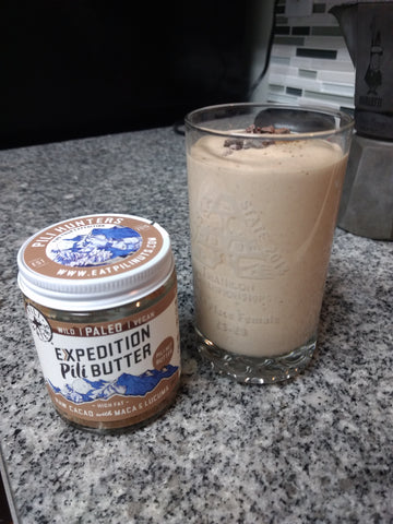 high fat mouse smoothie with raw cacao keto butter