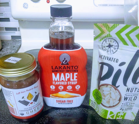maple keto granola ingredients