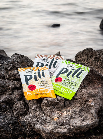 three one ounce packets of expedition pili nut butter