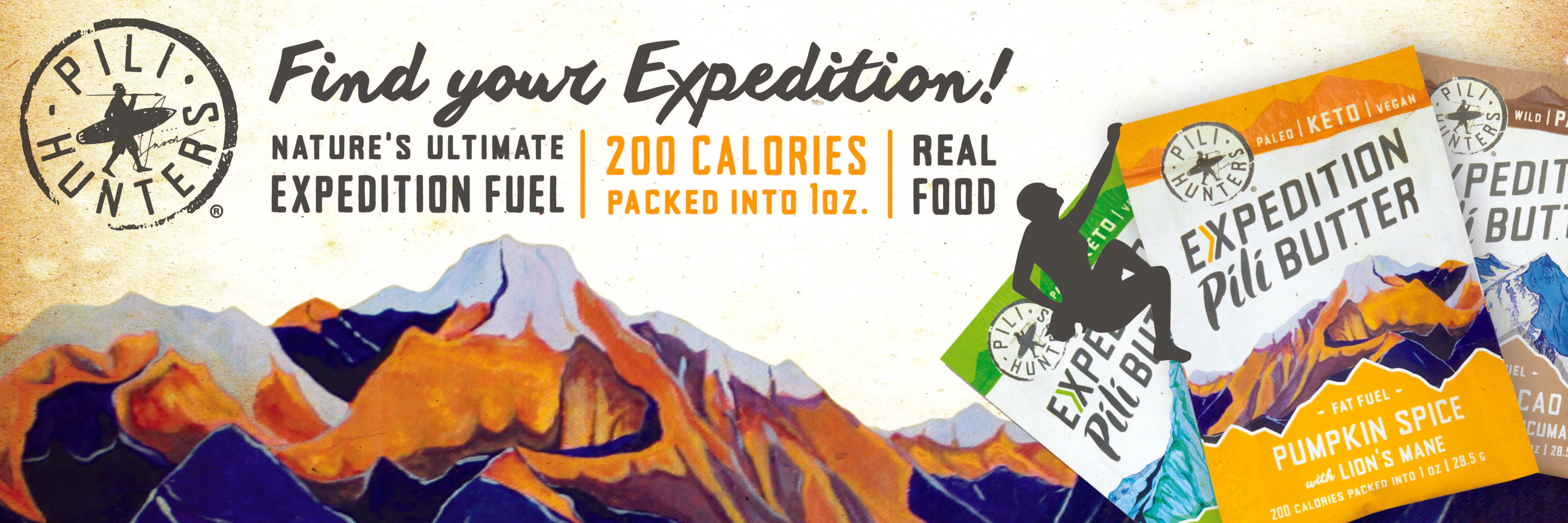 expedition keto pili butter banner