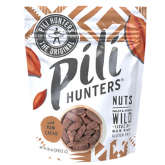 Raw cacao pili nuts with regernative cacao from Pili Hunters