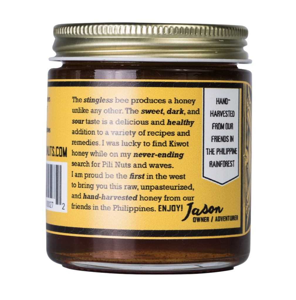 wild raw fermented honey label