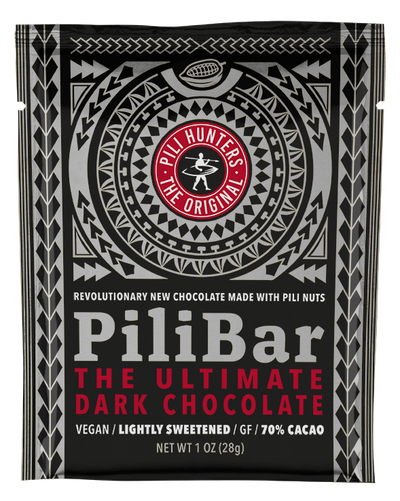 PiliBar The Ultimate Keto/Paleo/Vegan Dark Chocolate with 3/ grams of Coconut Sugar