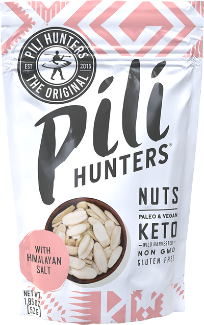 Pili Hunters™ Sprouted Pili Nuts with Pink Himalayan Salt