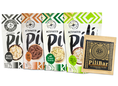 4-pack Pili Nut Variety + Keto Chocolate  FREE SHIPPING ! IN STOCK TUESDAY 6/30