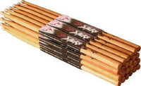 On Stage-American Hickory  Nylon Tip Drum sticks 12 Pairs