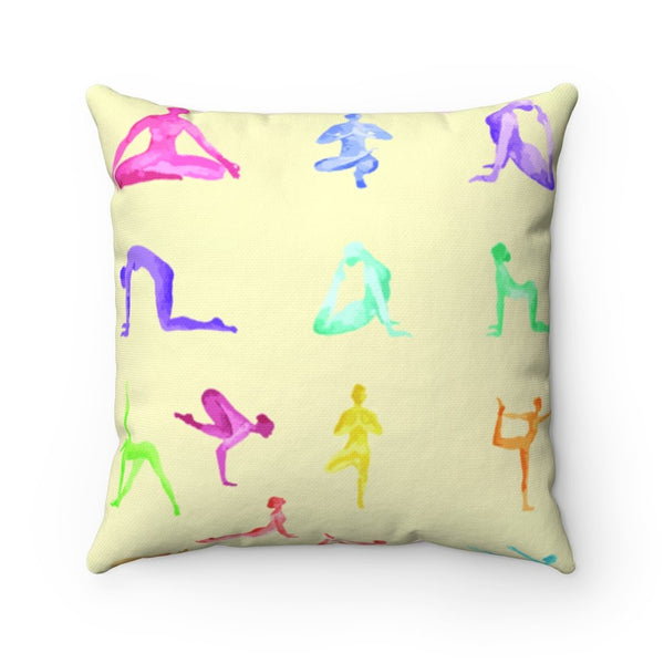 Yoga Sanctuary Square Pillow