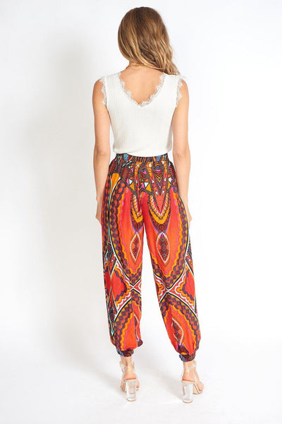 Boho Yoga Hippie Pants Red