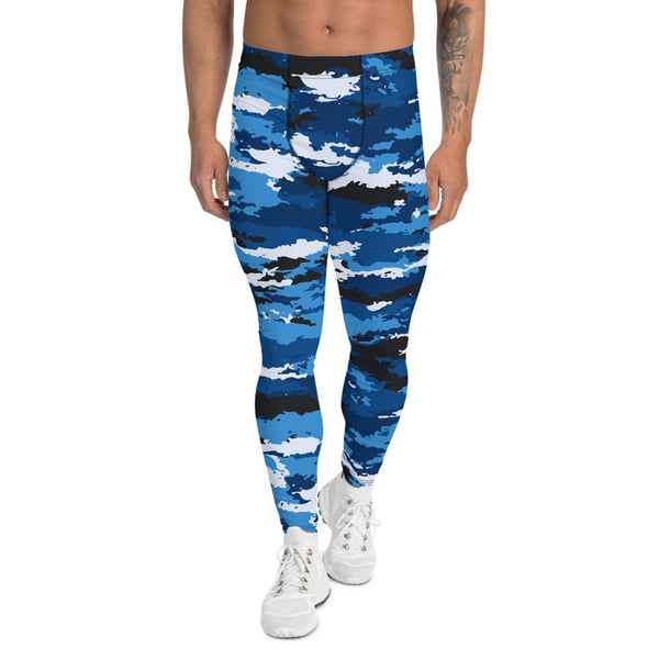 Blue Camo Leggings for Men