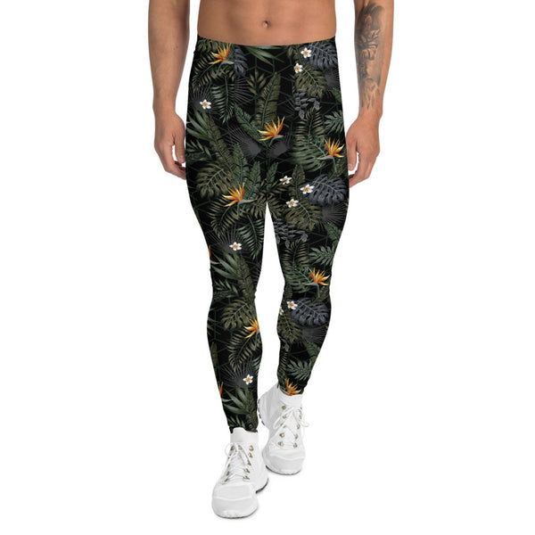 Bird of Paradise Mens Black Leggings