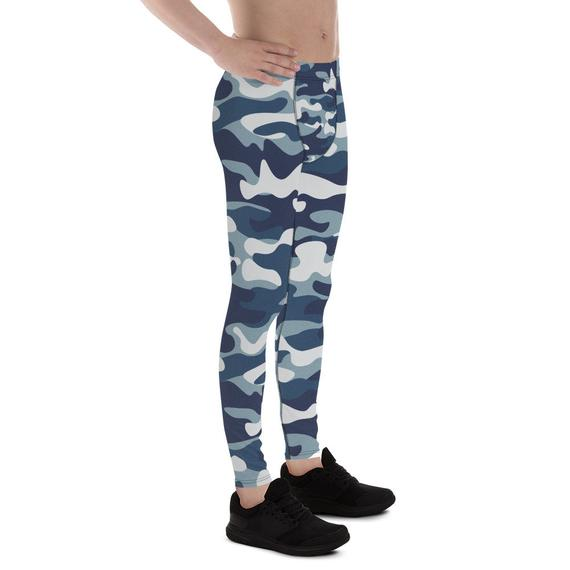 Mens Leggings - Urban Camo Army / Military Pattern