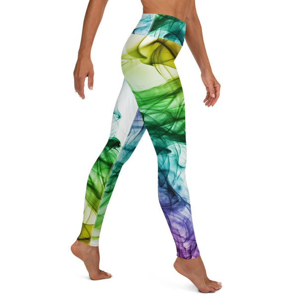 Colorful Smoke Yoga Leggings