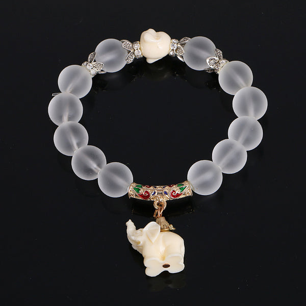 Crystal Elephant Bracelet - Yogini Yoga Wear