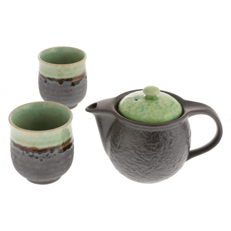 Bronze & Jade Tea Set