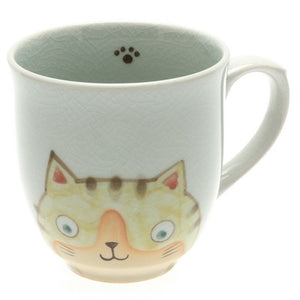 Yellow Cat Face Mug