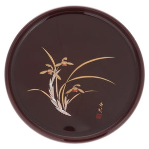Burgundy & Gold Orchid Tray