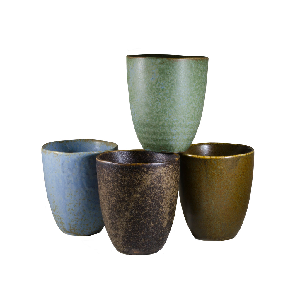 Pacific Forest Matte Set of 4 Cups