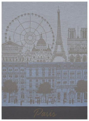 Paris Panorama Azure Tea Towel