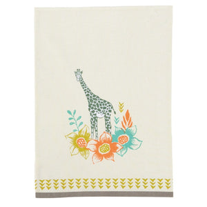 Safari Single giraffe tea towel