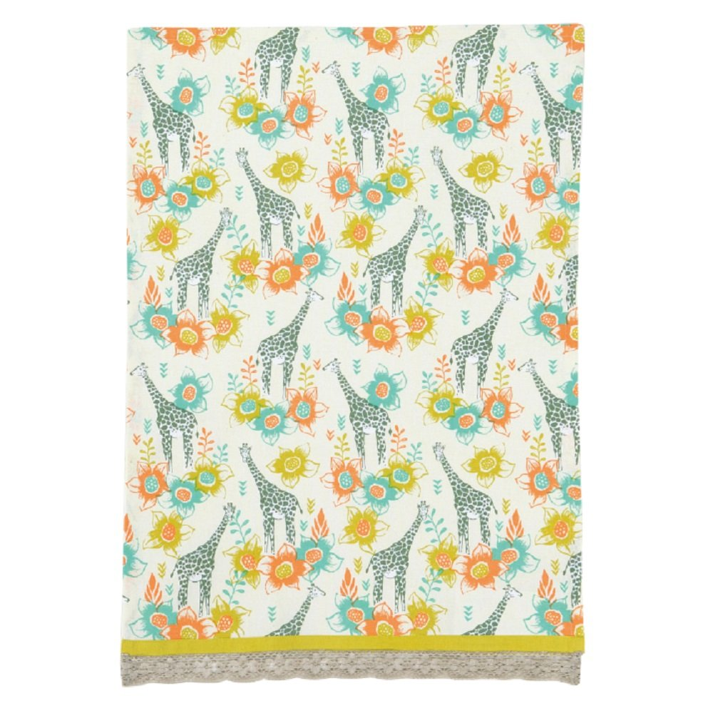 Safari Giraffes tea towel
