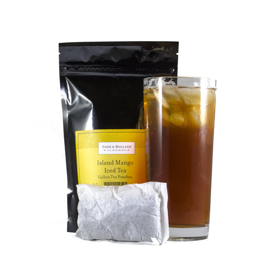 Island Mango Iced Tea Gallon Pouches - Todd & Holland Tea Merchants