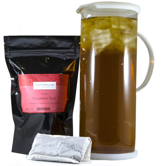 Cucumber Cool Half-Gallon Pouches - Todd & Holland Tea Merchants