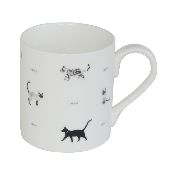 Cats and Fish Bones Mug - Todd & Holland Tea Merchants