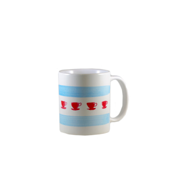 Chicago Flag Teacup Mug