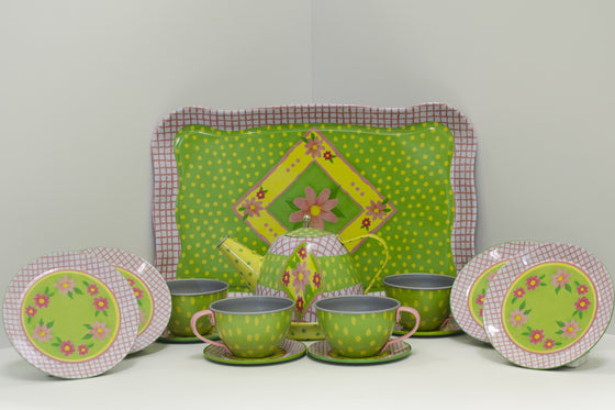 Tea Party for Four Tin Tea Set