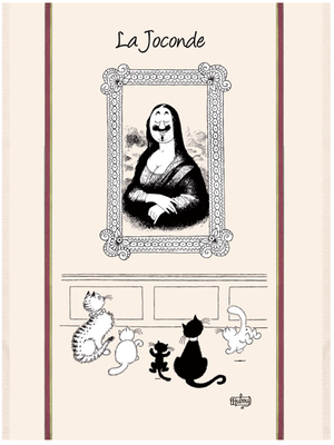 Mona Lisa Cats Dish Towel