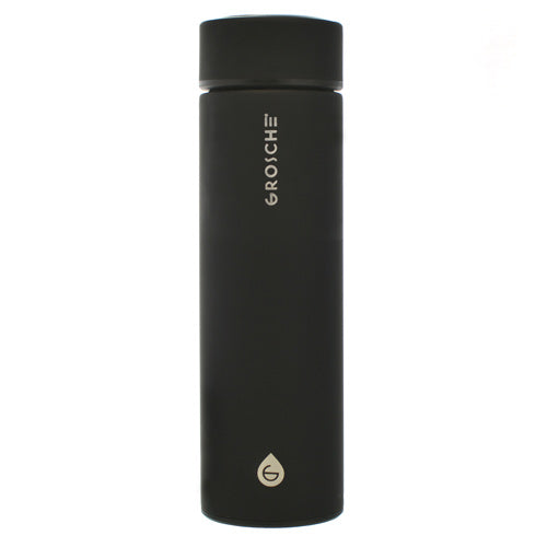Chicago Double Walled Stainless Tumbler with Infuser Black - Todd & Holland Tea Merchants
