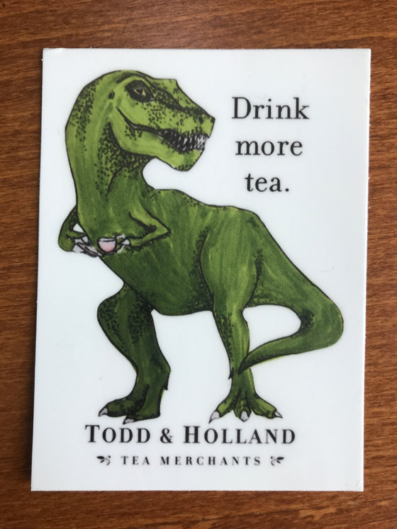 Drink More Tea Vinyl Sticker