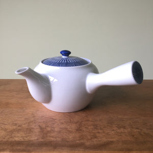 Side Handle Blue Spoke Teapot