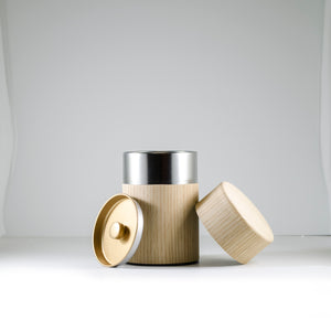 Oak Natural Wood Covered Canister 150g
