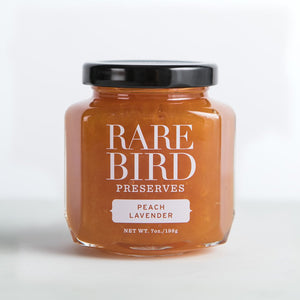 Rare Bird Peach Lavender preserves