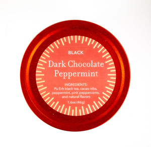 Dark Chocolate Peppermint in Ripple Red Tin