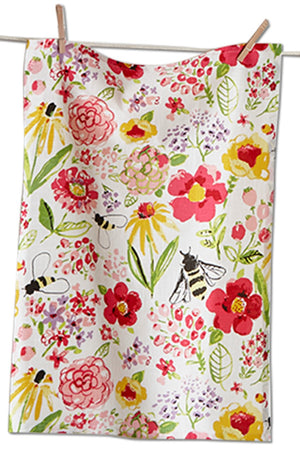Fresh Flower Garden Towel