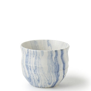 Blue & White Marble Teacup 4oz