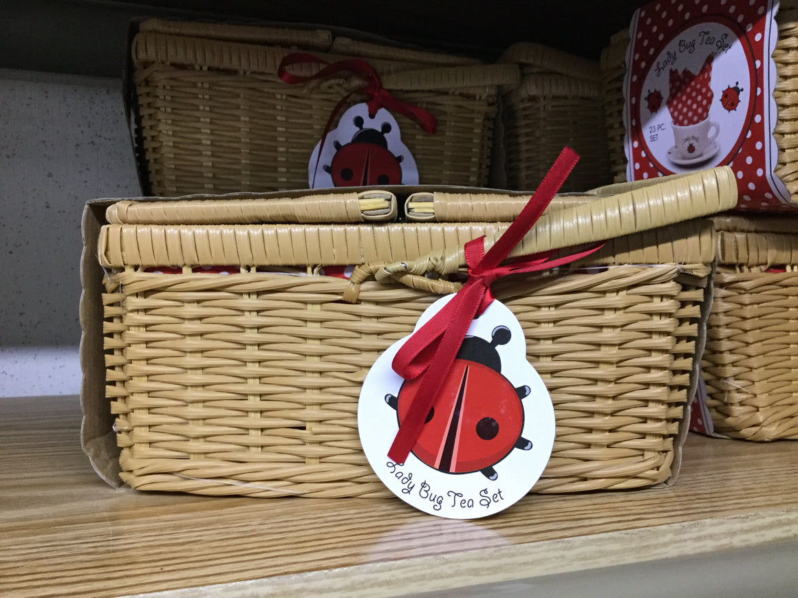 Ladybug Tea Set in Basket