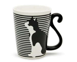 Striped Black Cat 9oz Mug