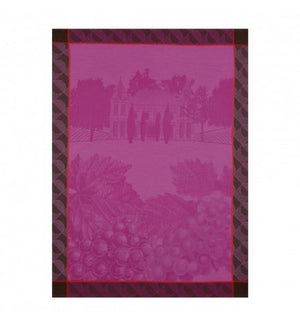 Vignes Grapes Purple Tea Towel