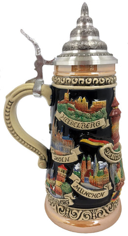 Country Theme Beer Stein
