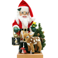 Santa and Bambi Deer, Ulbricht Limited Edition Nutcrackers - SavvyNiche.com