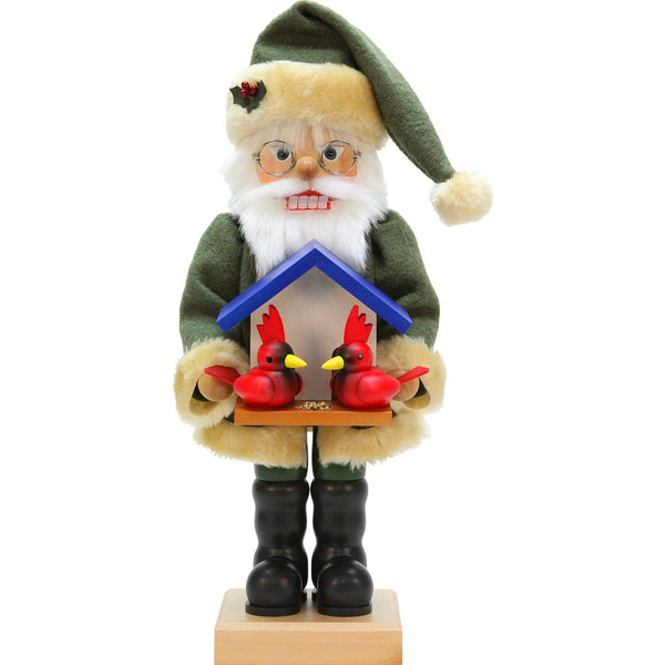 Santa with Cardinals, 2017 Ulbricht German Nutcrackers - SavvyNiche.com