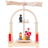 Santa with children, Dregeno Christmas Pyramids - SavvyNiche.com
