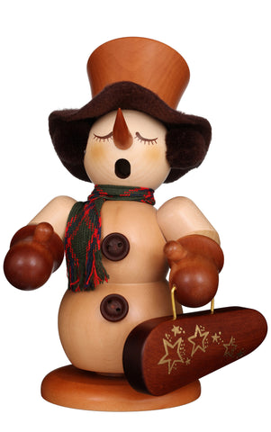 German Incense Smoker Burner - Snowman Violinist Christian Ulbricht