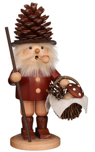 Christmas Incense Smoker German Burner Woodsman Natural Wood