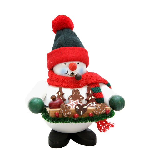Snowman with gingerbread, Ulbricht German Christmas Smokers - SavvyNiche.com