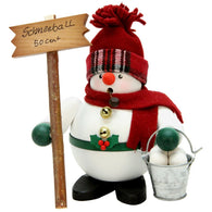 Snowman Snowball Salesman, Ulbricht German Christmas Smokers - SavvyNiche.com